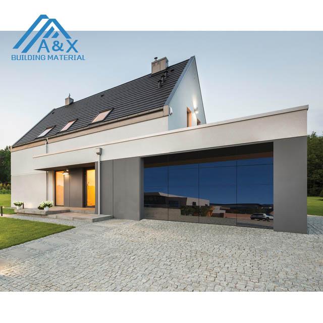 4S dealer ship/ Aluminum Sectional Insulated Mirror Glass Garage Door