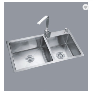 304 SUS hand made strong thickness double bowl large stainless steel sink