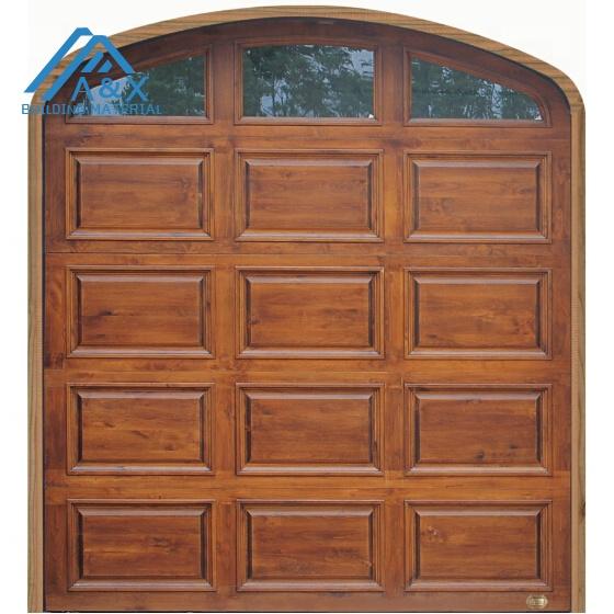 Wonderful European Design Solid Wood Garage Door