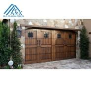 Wholesale residential sectional solid wood garage door