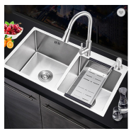 High quality handmade 304 stainless steel kitchen sink