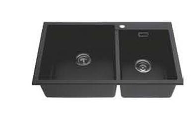 luxury double bowl black kitchen sink