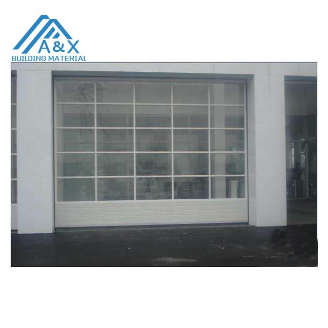 Automatic commercial glass garage doors