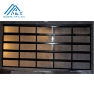 Aluminum glass panel garage door