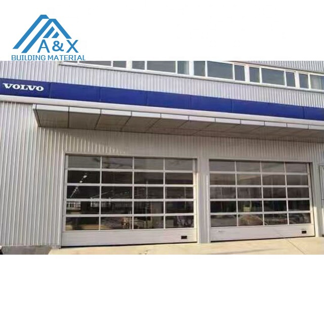 glass aluminum full view garage doors for home or commercial or 4S dealership