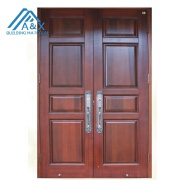 High quality solid wood double entrance doors