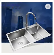 New design large sign double bowl kitchen stainless steel sink