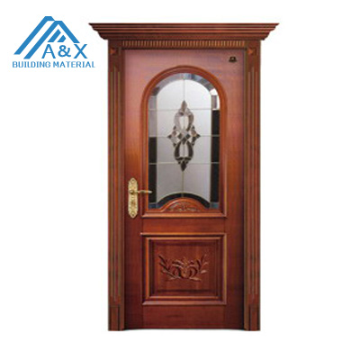 Best Quality European Germany's Style Carved Solid Wood Door