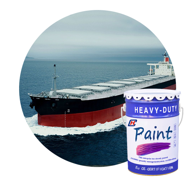 Good seawater spattering resistance chlorinated rubber Anticorrosive topcoats