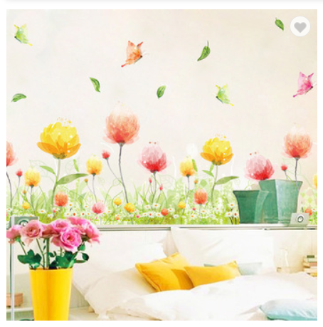Dream Iris PVC Decorative Wall Sticker Kick-line 3D Design Wallpaper