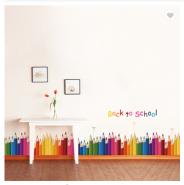 Color Pen PVC Decorative Wall Sticker PVC Kick-line Removable 3D Design Sticker