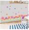 Dahlia Flowers PVC Wall Stickers Waterproof 3D Decorative Wallpaper For Kitchen