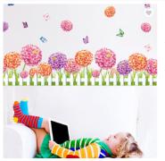 Dahlia Flowers Self adhesive PVC Waterproof Wall Stickers 3D Design Kids Wallpaper
