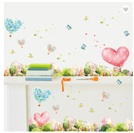 Dream Forest Bedroom Self adhesive Wallpaper Removable PVC Wall Sticker