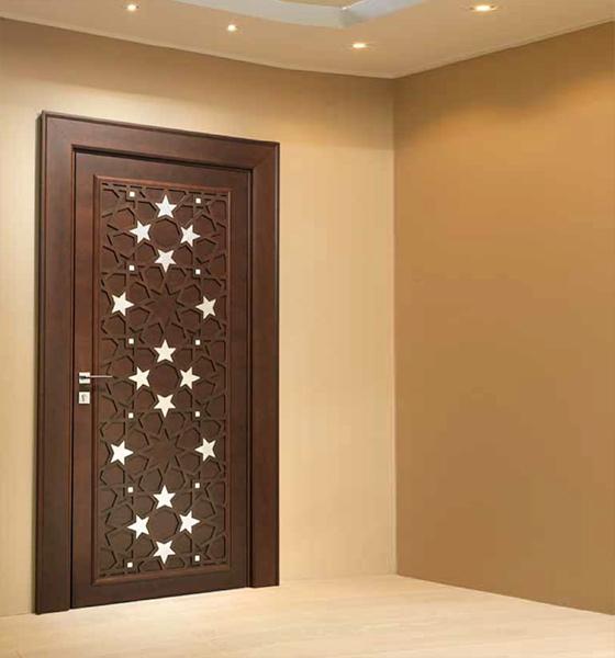 Anti-theft WPC Wood Doors