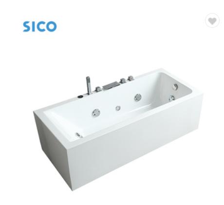 Home hand control free standing large plastic bathtub wholesale