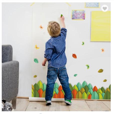 Colorful Leaves Self-adhesive 3D Design Kick-line PVC Decorative Wall Sticker