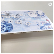 400mm Width Fasion Interior Decorative Style Wall Panel Bamboo Fiber WPC PVC Wall Cladding