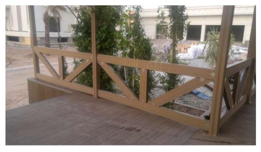 WPC artificial wood fence 5027