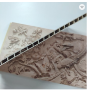 400mm Width Bamboo Fiber Decorative PVC WPC Wall Panel Cladding