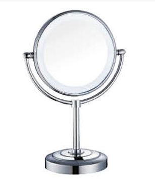 Deck mounted movable round design magnify LED cosmetic mirror
