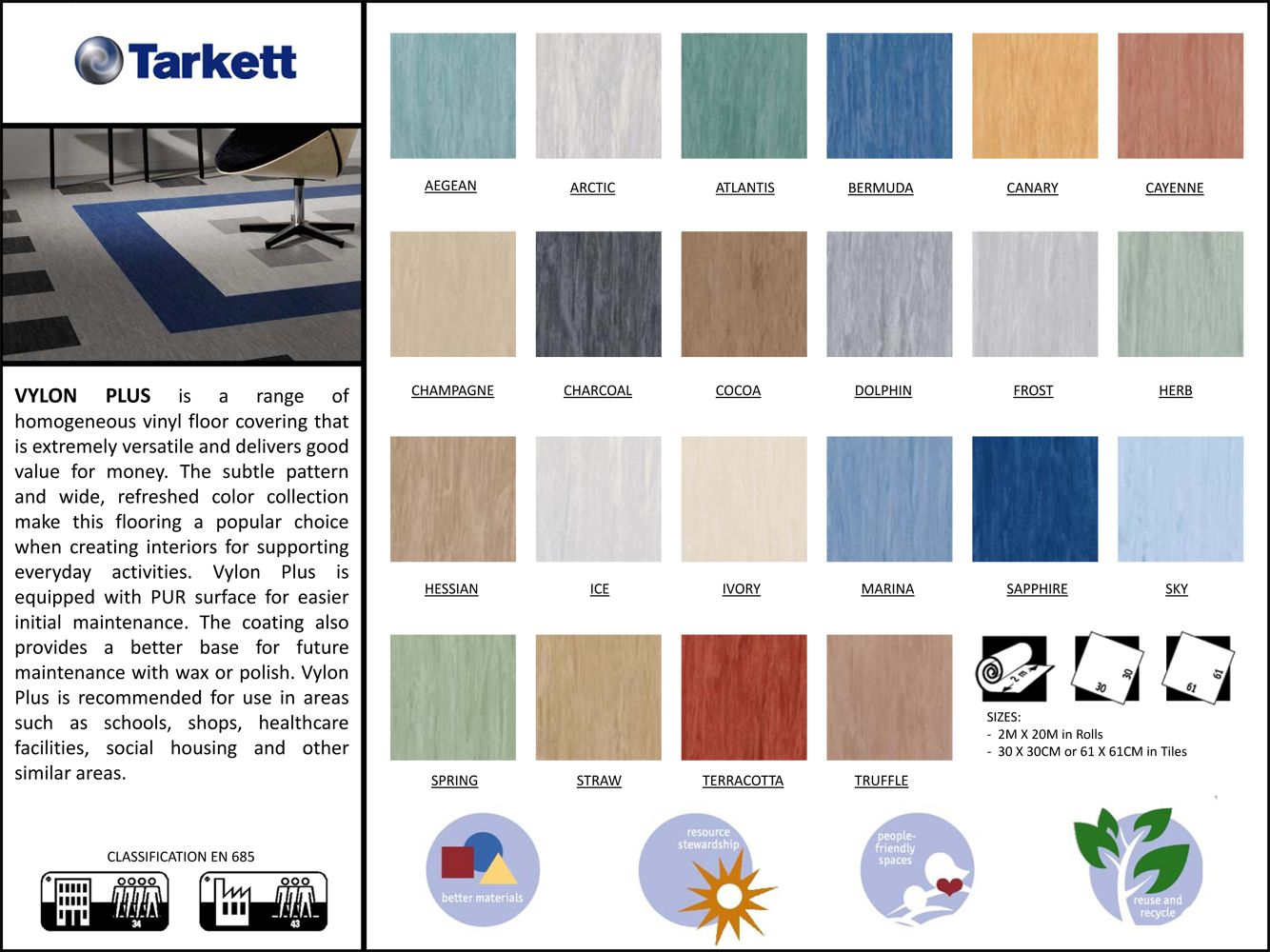 PVC Vinyl Flooring VYLON PLUS