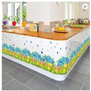 Blue Flowers Butterfly Waterproof 3D Stickers PVC Skirting Line Decorative Waist Line