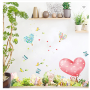 Dream Forest Kids Room Self adhesive Wallpaper Skirting Line Waterproof PVC Wall Sticker