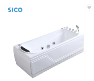 Cheap white acrylic bathtub with panel massage and jet most popular