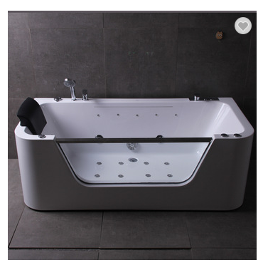 Single person floor standing design with massage acrylic bathtub