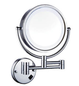 Made in china Bathroom use with magnify function 8 inch wall hung LED cosmetic mirror