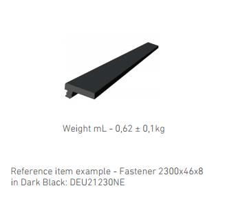 WPC DECKING Dark Black: DEU21230NE