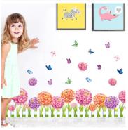 Dahlia Flowers Waterproof Wall Stickers Removable 3D Design Decorative Wallpaper