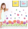 Dahlia Flowers Waterproof Wall Stickers Removable 3D Design Decorative Wallpaper