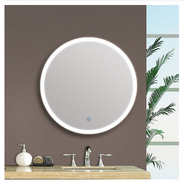 Modern wall mounted hotel with sensor touch switch led bath mirror