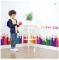 Color Pen PVC Decorative Wall Sticker PVC Kick-line Waterproof Kids 3D Design Sticker