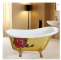 Factory price one piece portable freestanding whirlpool bathtub
