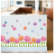 Dahlia Flowers 3D Decorative Wallpaper Waterproof Removable Wall Stickers