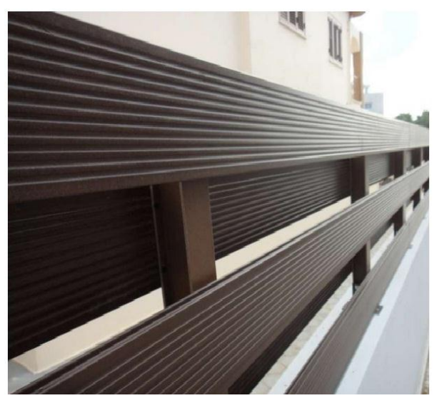 WPC artificial wood fence 5003