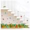 50*70cm Colorful Leaves Self-adhesive Kick-line 3D Design PVC Decorative Wall Sticker
