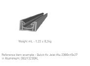 WPC DECKING Aluminium: DEU13230AL