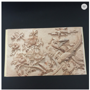 400*9mm Size Easy Install Relief Design WPC Paneling for Project Decoration