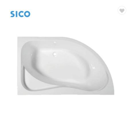 High quality drop-in acrylic corner bathtub