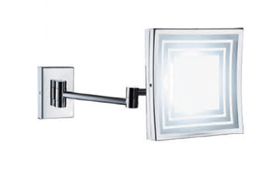 CLASIKAL 6/8 inch Square design with LED and magnify cosmetic mirror small