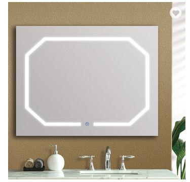 Factory wholesale special design bathroom led mirror touch screen