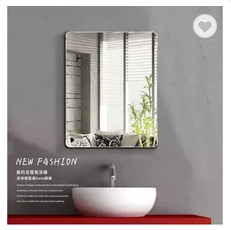 Made in china factory wholesale cheaper price square bathroom mirror