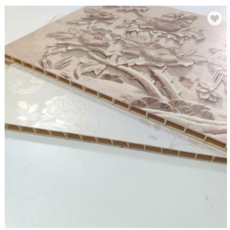 Fashionable 3d Bamboo Fiber WPC PVC Wall Panel Interior Decorative