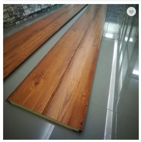 Beautiful Wood Color Polyurethane Board Energy Saving Exterior Insulated Wall Panel