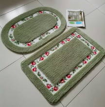 PVC backing non-slip bathroom doormats with different color