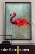 Cloisonne Enamel Handpaint Art Glass Picture Frame